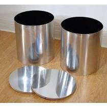 Round Cylinder 16 CM Metal Planter