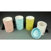 Cylindrical 4 Colored Ceramic Electric Wax Warmer Oil Burner(Set Of 4)