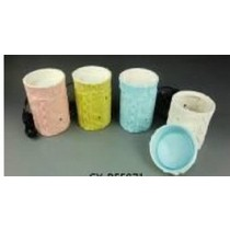 Cylindrical  Colored Ceramic Electric Wax Warmer Oil Burner(Set Of 4)