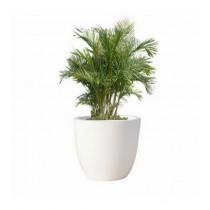 White Round 10 Inch Polystone Planter