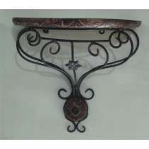 D Shape Wooden & Iron Wall Bracket
