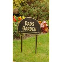 Dads Garden Solid Brass Garden Tag