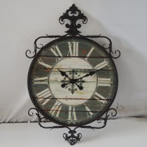 Dark Brown Antique Decorative  Wall Clock