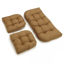 Dark Brown Color 3 Piece U Shaped Cushion Set