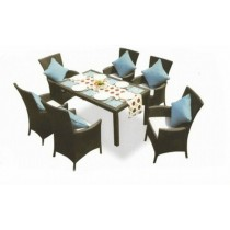 Dark Coffee Garden Outdoor Chair & Table Set