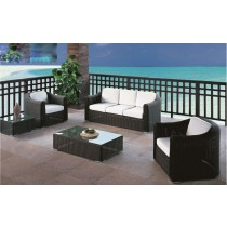 Dark Coffee PE Rattan Outdoor Sofa Set