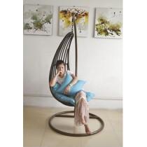 Dark Coffee Simple Rattan Single swing Chair