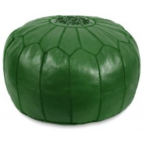 Dark Green Color Round Floor Pouf