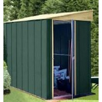 Dark Green Garden Shed