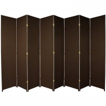 Dark Mocha 7 Feet - Tall Woven Fiber 8 Folding Panel