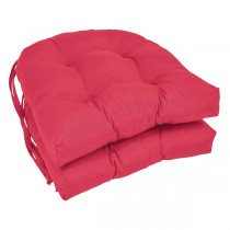 Dark Pink 16 Inch U Shaped Cushion With Ties