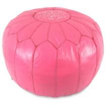 Dark Pink Round Floor Pouf