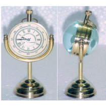 "Paper Weight Clock On Stand, 4"" X 2.5"" X 2"""