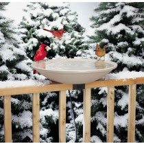 Deck Mounted Heated Bird Bath - 20 Inch