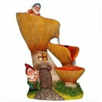 Decorative 3 tire Garden Gnome Fountain