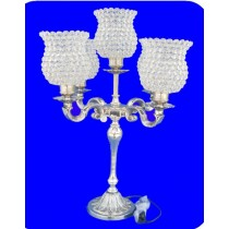 Decorative Aluminium Stand With 5 Crystal Lamp