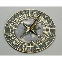 Decorative Antique Brass Horoscope Garden Sundial