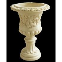 Decorative Artificial Sandstone Ornate Tall Flowerpot