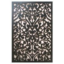 Decorative Bird Design Black Panel