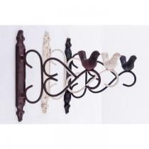Decorative Bird Design Cast Iron Hanging Basket Bracket
