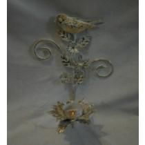 Decorative Bird Hand Curved Shabby Candle Holder