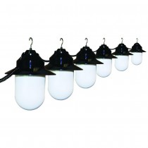 Decorative Black 6 String Light Set