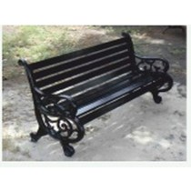 Decorative Black Cast Iron Garden Lawn Bench(Three Seater)