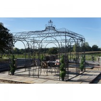 Decorative Black Finish Metal Gazebo