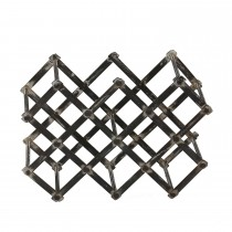 Decorative Black Finish Metal Wine Rack