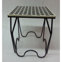 Decorative Black Finish Stool