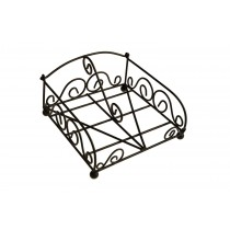 Decorative Black Iron Napkin Stand