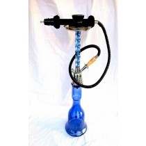 Decorative Blue Clear Glass & Steel  Hookah