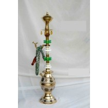 Decorative Brass & Acrylic Single Hose Hookah