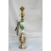 Decorative Brass & Acrylic Single Hose Hookah