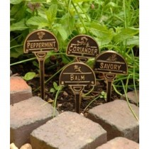 Decorative Brass Herb Garden Tag