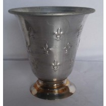 Decorative Silver Galvanized Metal Planter