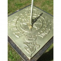 Decorative Brass Polished Garden Sundial