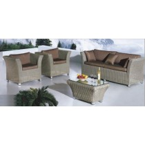 Decorative Brown Garden Rattan Outdoor Sofa Set