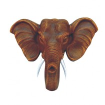 Decorative Brown Shiny Elephant Head