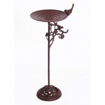 Decorative Cast Iron Elegant Design Bird Bath
