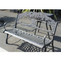 Decorative Cast Iron Tree Design Garden Bench