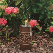 Decorative Ceramic Garden Torch 9 Inch Height