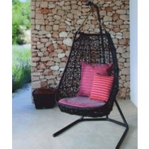 Decorative Classic Black Garden Rattan Vertical Swing