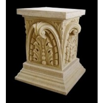 Decorative Classical Design Sandstone Pedestal