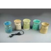 Decorative Colored Ceramic Electric Wax Warmer Oil Burner(Set Of 5)