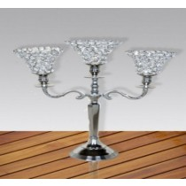 Decorative Crystal  3 Arm Candelabras