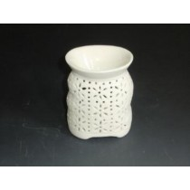 Decorative Curved Shape White Ceramic Oil Burner