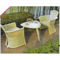 Decorative Cutout Pattern 2 Chair & 1 Table Set
