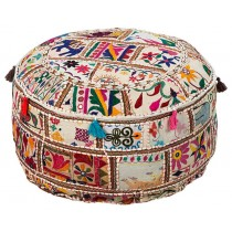 Decorative Cylindrical Floor Pouf