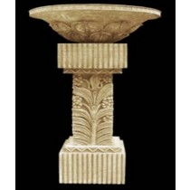 Decorative Design Sandstone Pedestal With Flower Pot